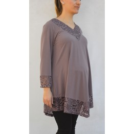 Maternity Fresh Colour Long Sleeve Tunic Top