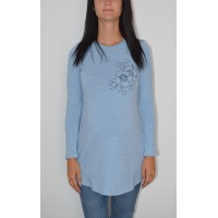 Maternity Blue Gamma Tunic Top with Shapes