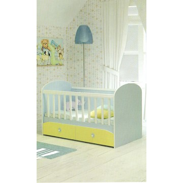 Baby Colour Variations Two Drawers Bed Diana