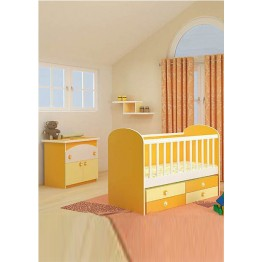 Baby Colour Combinations Four Drawers Swing Bed Diana