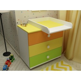 Baby Room Colour Combinations Three Drawers Dresser Trio