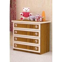 Baby and Child Room Colour Combinations Four Drawers Relief Front Dresser