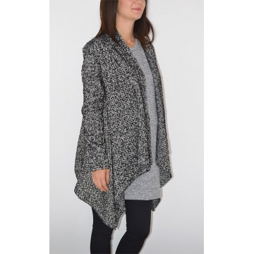 Maternity Black and White Relief Cardigan