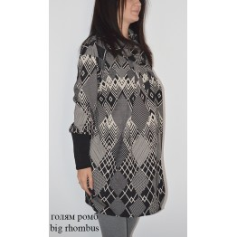 Maternity Black and Creamy Square Ribbed Fabric Cardigan