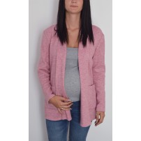 Maternity Pink Cardigan with Pockets