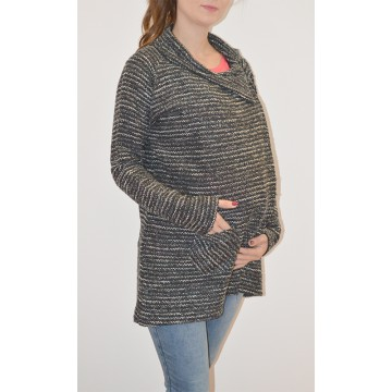Maternity Dark Grey Knitwear with Front Pocket