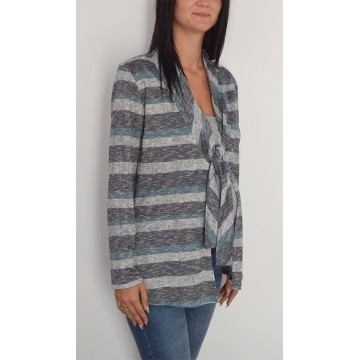 Maternity Grey Light Fabric Cardigan