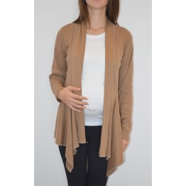 Maternity Dark Beige Soft Cardigan
